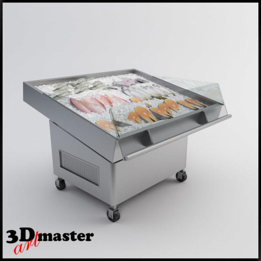 Koelkasttafel voor vissen royalty-free 3d model - Preview no. 1