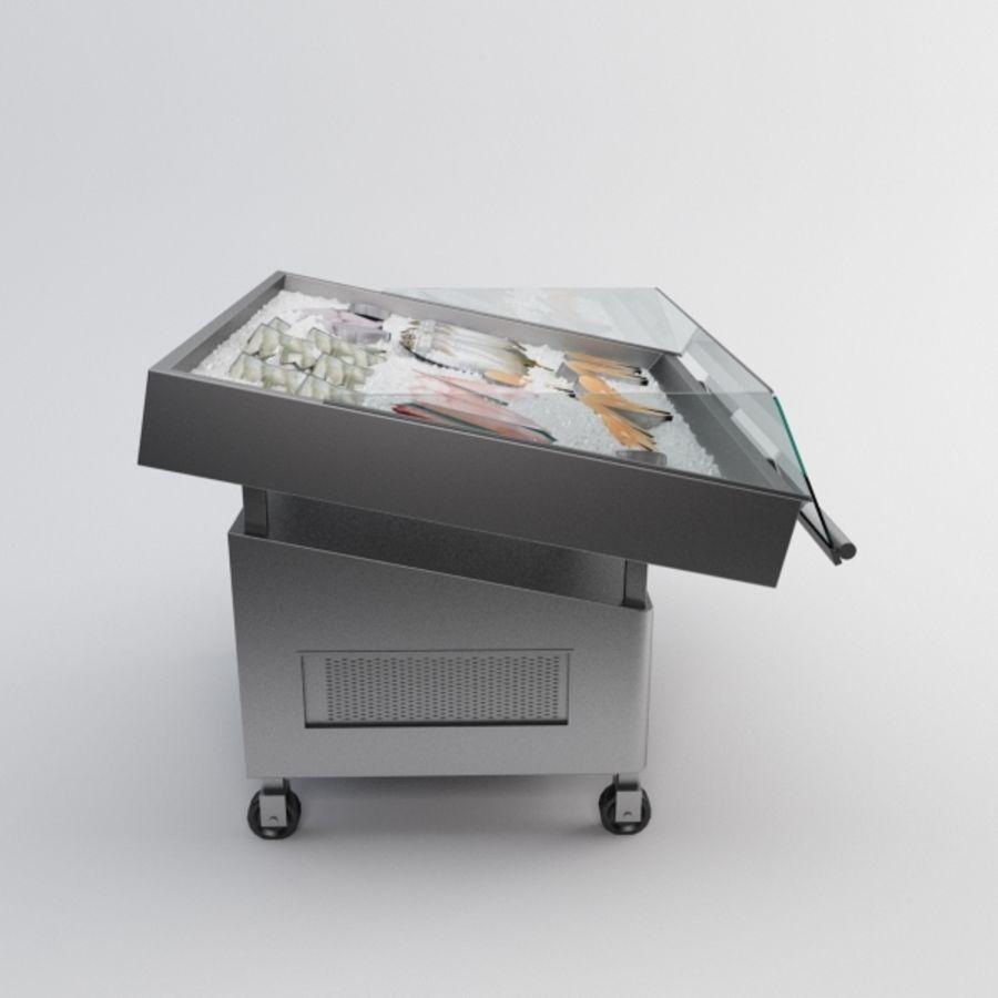 Koelkasttafel voor vissen royalty-free 3d model - Preview no. 4
