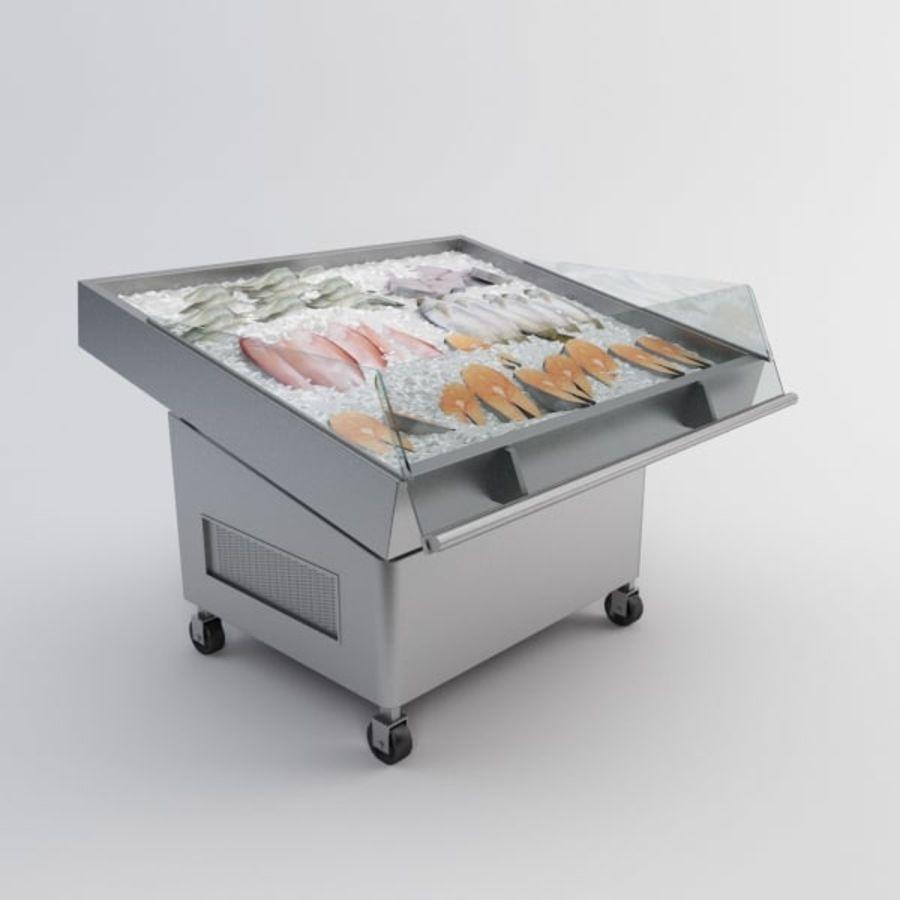 Koelkasttafel voor vissen royalty-free 3d model - Preview no. 3