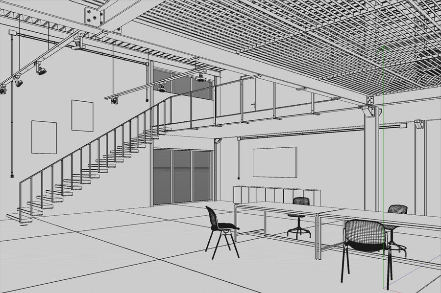 Industrial Loft royalty-free 3d model - Preview no. 11