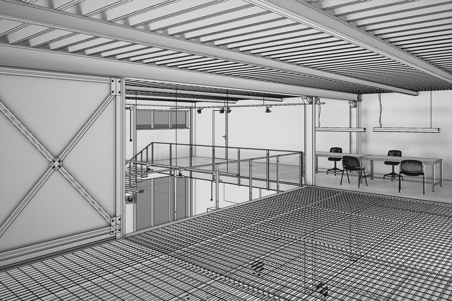 Industrial Loft royalty-free 3d model - Preview no. 8