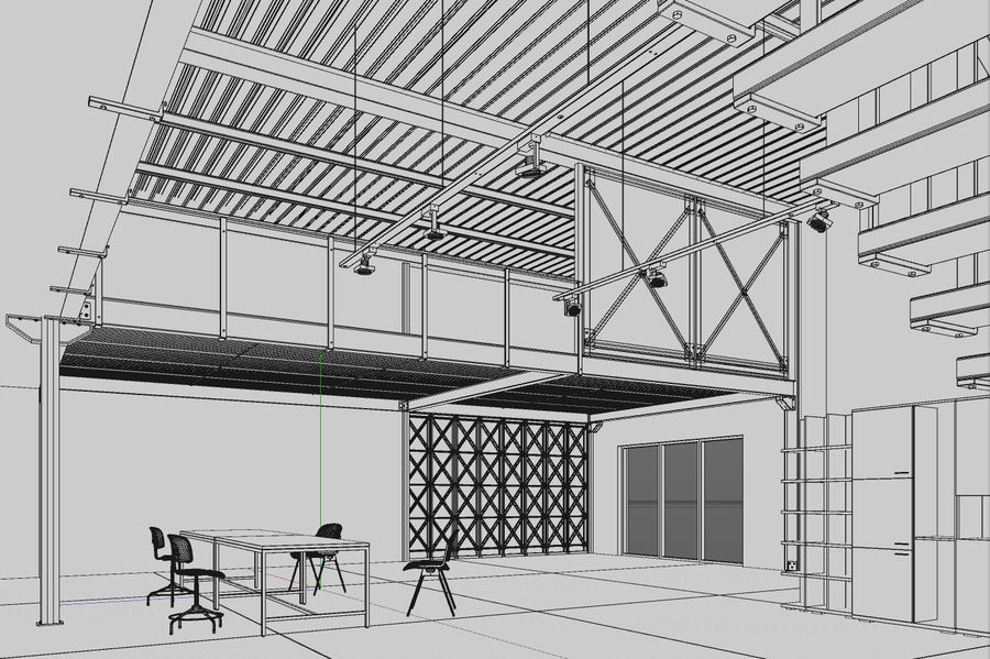 Industrial Loft royalty-free 3d model - Preview no. 10