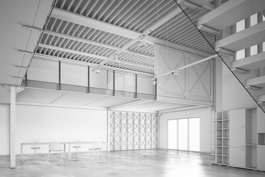 Industrial Loft royalty-free 3d model - Preview no. 5