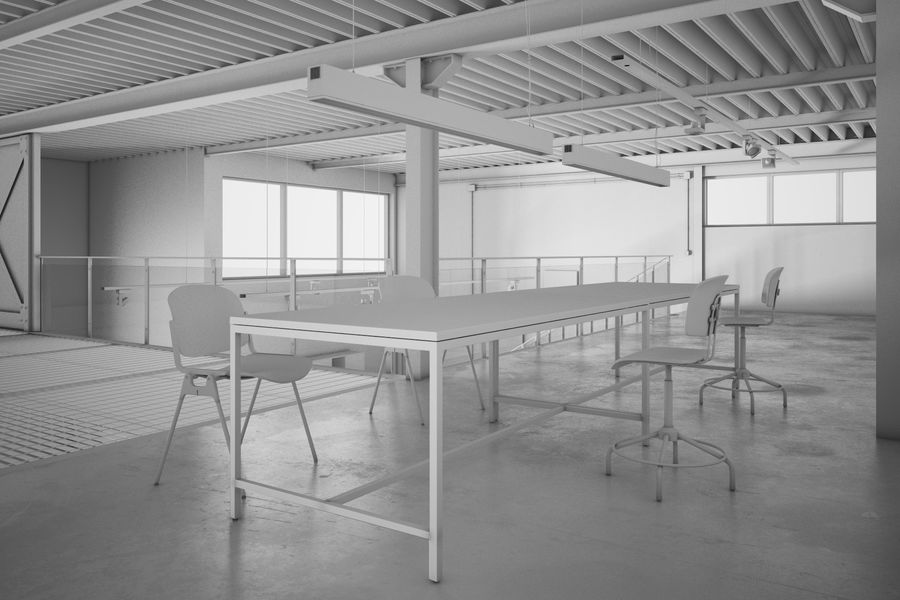 Industrial Loft royalty-free 3d model - Preview no. 2
