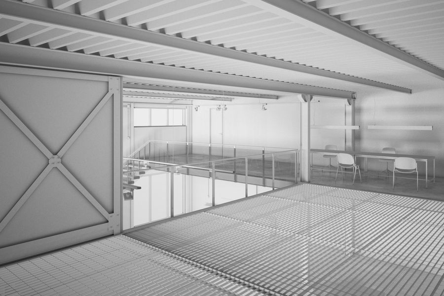 Industrial Loft royalty-free 3d model - Preview no. 4