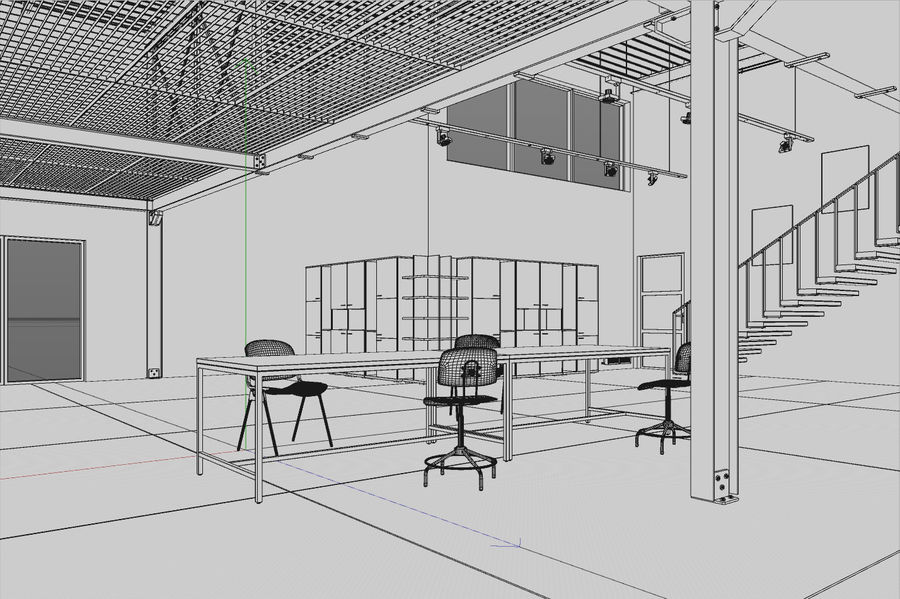 Industrial Loft royalty-free 3d model - Preview no. 9