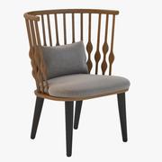 Nub 라운지 의자 3d model