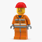 Lego Man Builder 3d model