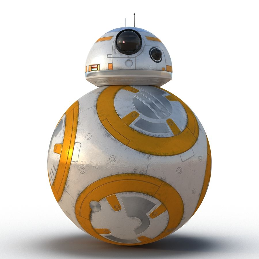 Star Wars BB 8 royalty-free 3d model - Preview no. 4