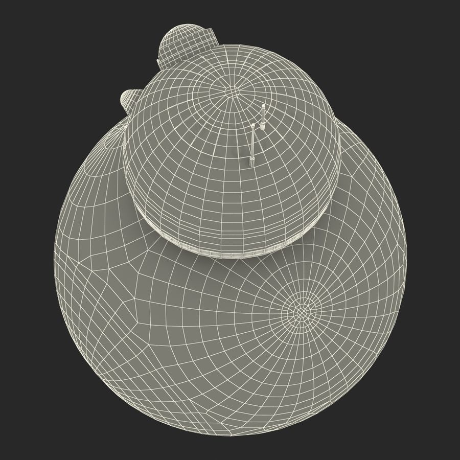 Star Wars BB 8 royalty-free 3d model - Preview no. 27