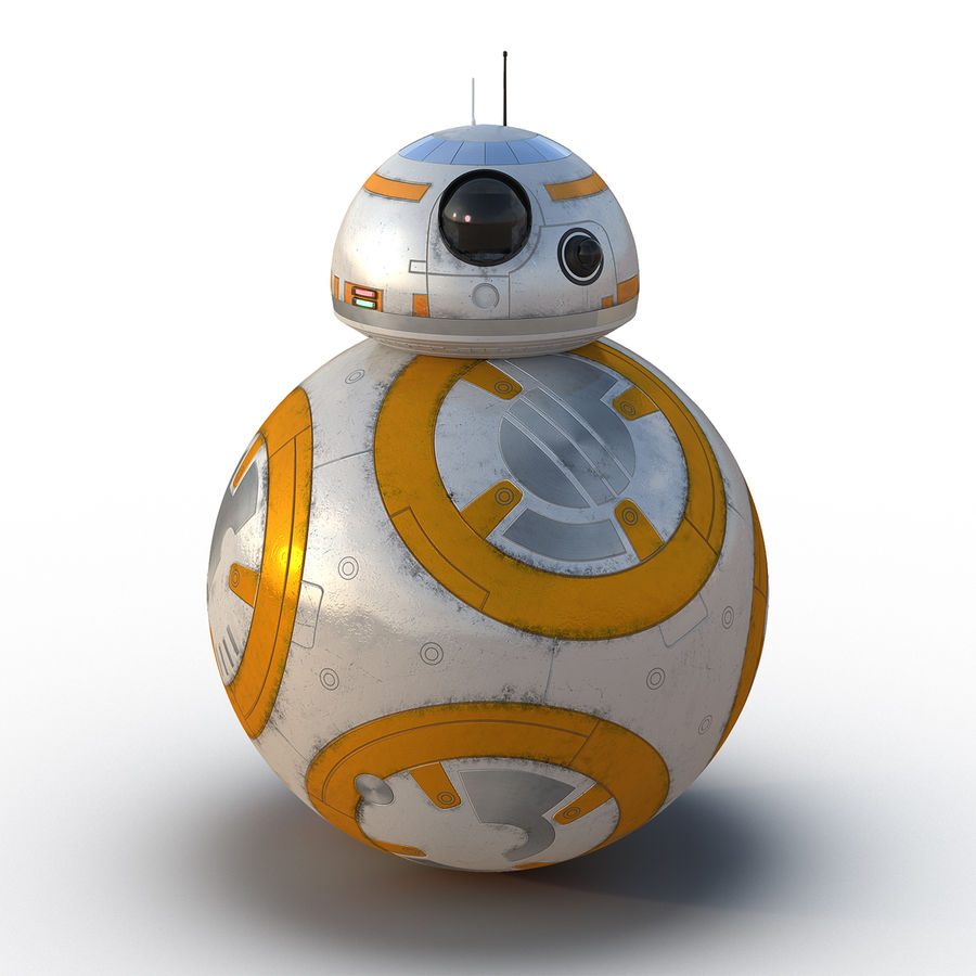 Star Wars BB 8 royalty-free 3d model - Preview no. 2