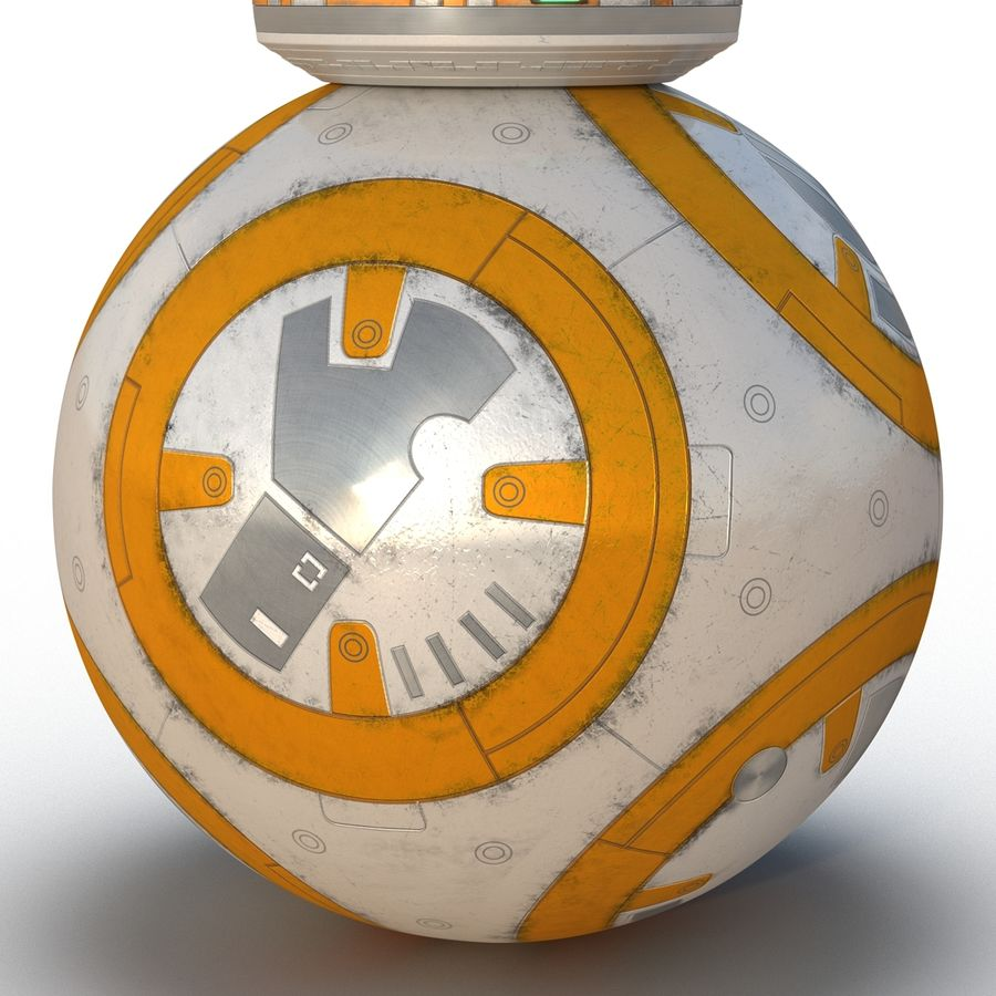 Star Wars BB 8 royalty-free 3d model - Preview no. 13