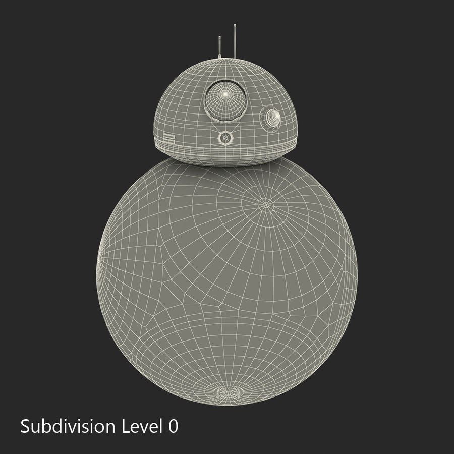 Star Wars BB 8 royalty-free 3d model - Preview no. 18