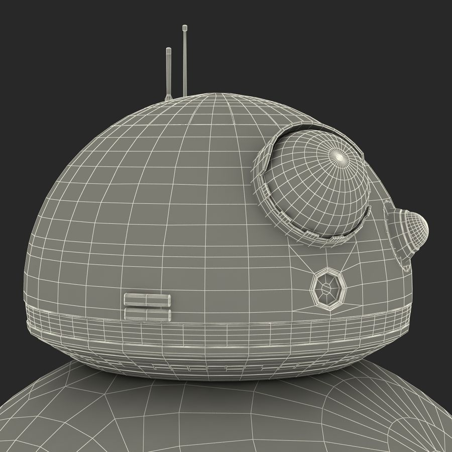 Star Wars BB 8 royalty-free 3d model - Preview no. 31