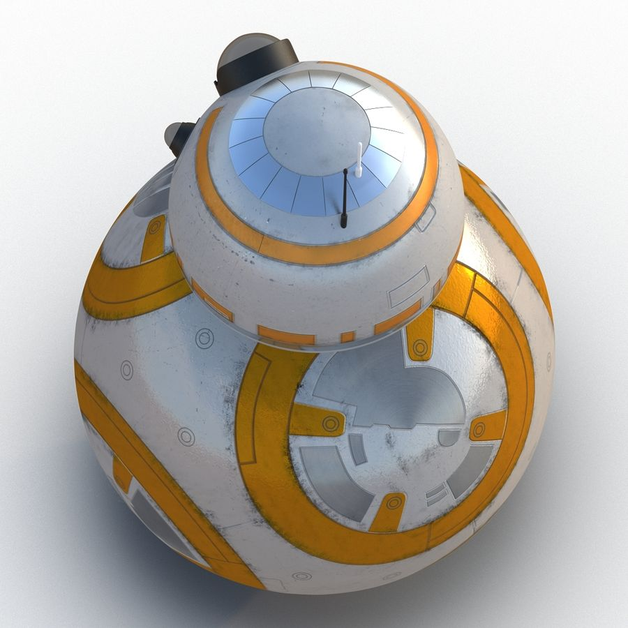Star Wars BB 8 royalty-free 3d model - Preview no. 10