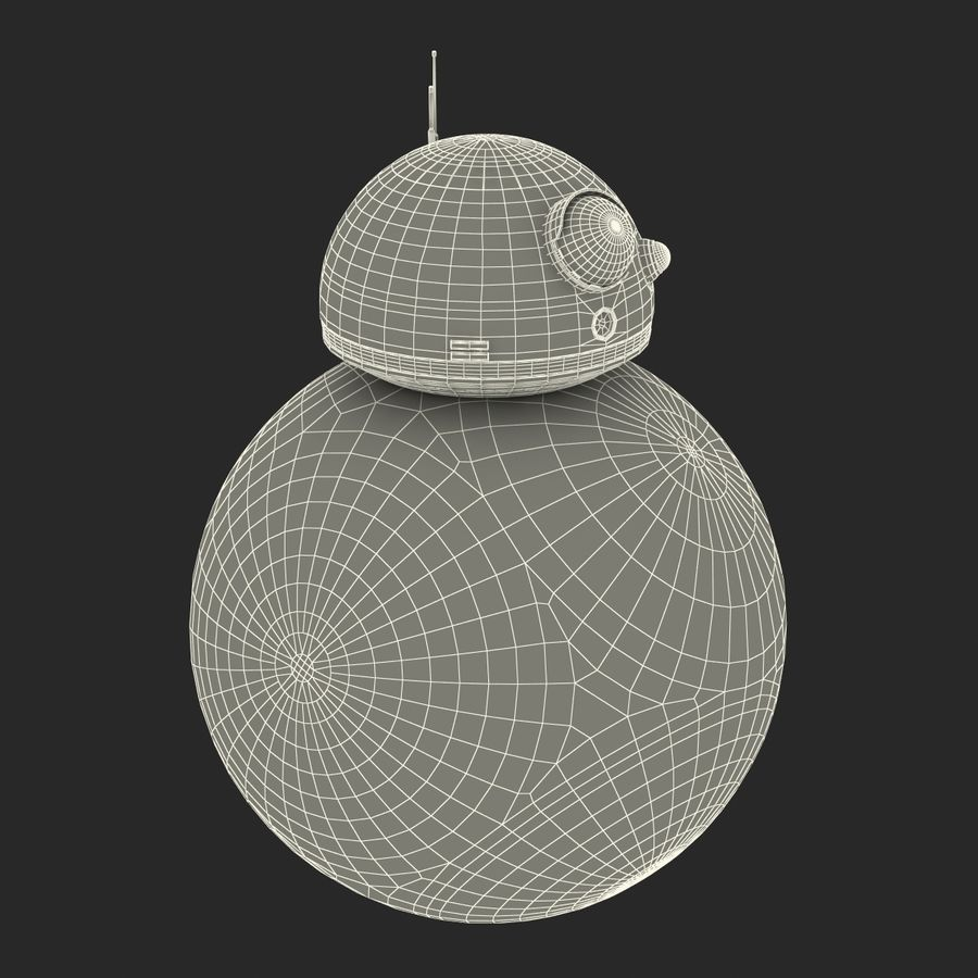 Star Wars BB 8 royalty-free 3d model - Preview no. 25