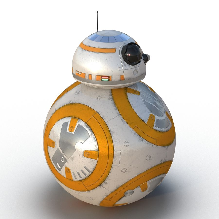 Star Wars BB 8 royalty-free 3d model - Preview no. 5