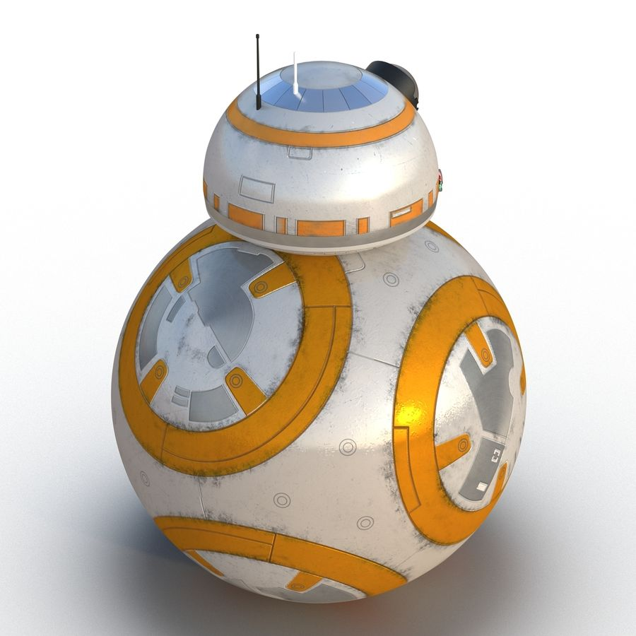 Star Wars BB 8 royalty-free 3d model - Preview no. 9