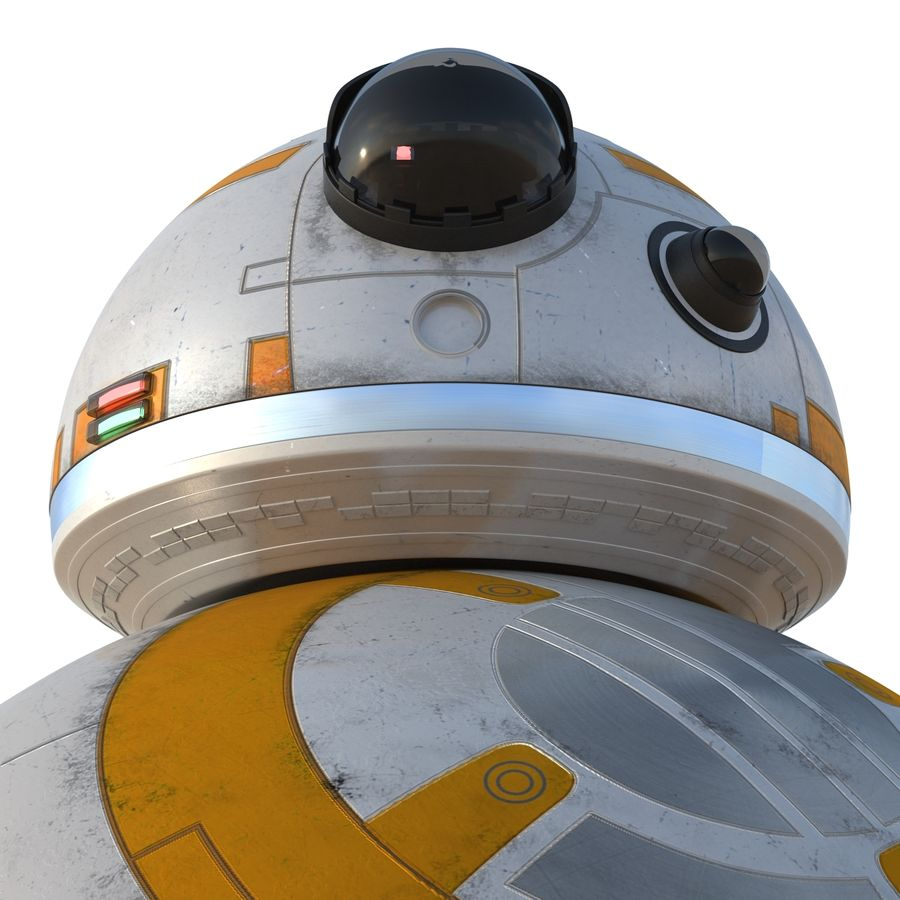 Star Wars BB 8 royalty-free 3d model - Preview no. 16
