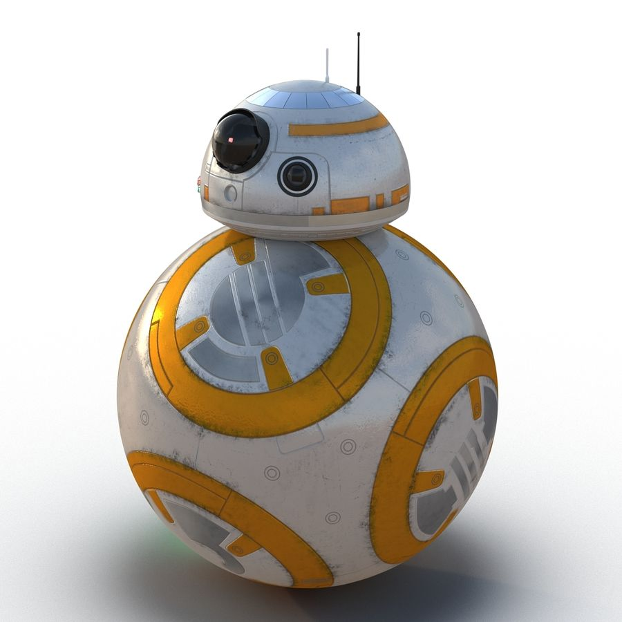 Star Wars BB 8 royalty-free 3d model - Preview no. 7