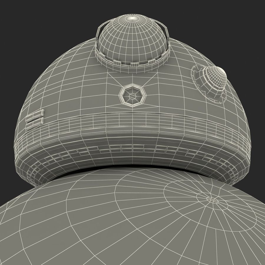 Star Wars BB 8 royalty-free 3d model - Preview no. 32