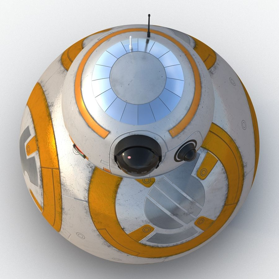 Star Wars BB 8 royalty-free 3d model - Preview no. 11