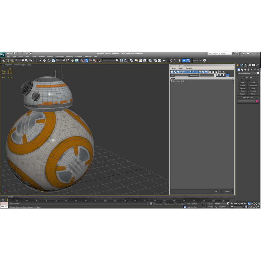 Star Wars BB 8 royalty-free 3d model - Preview no. 23