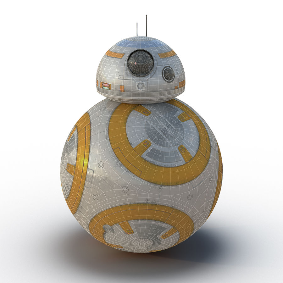 Star Wars BB 8 royalty-free 3d model - Preview no. 3