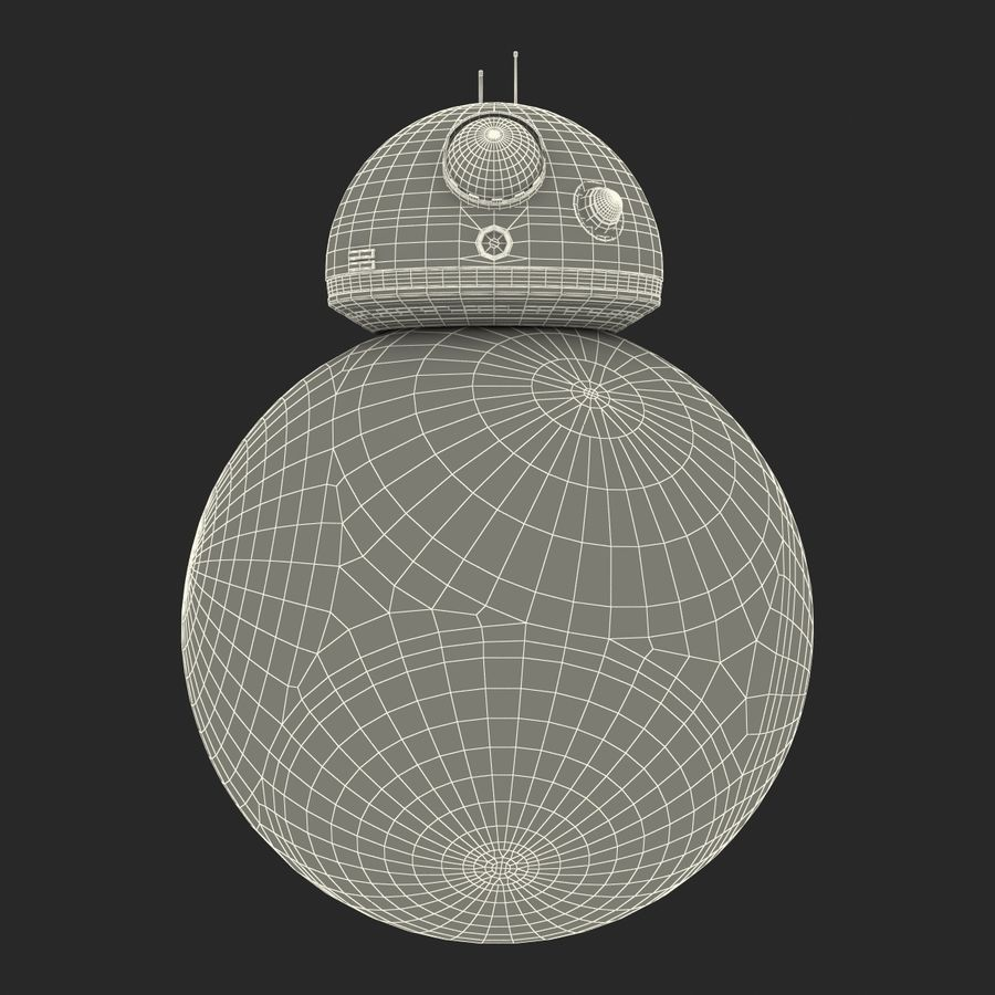 Star Wars BB 8 royalty-free 3d model - Preview no. 24