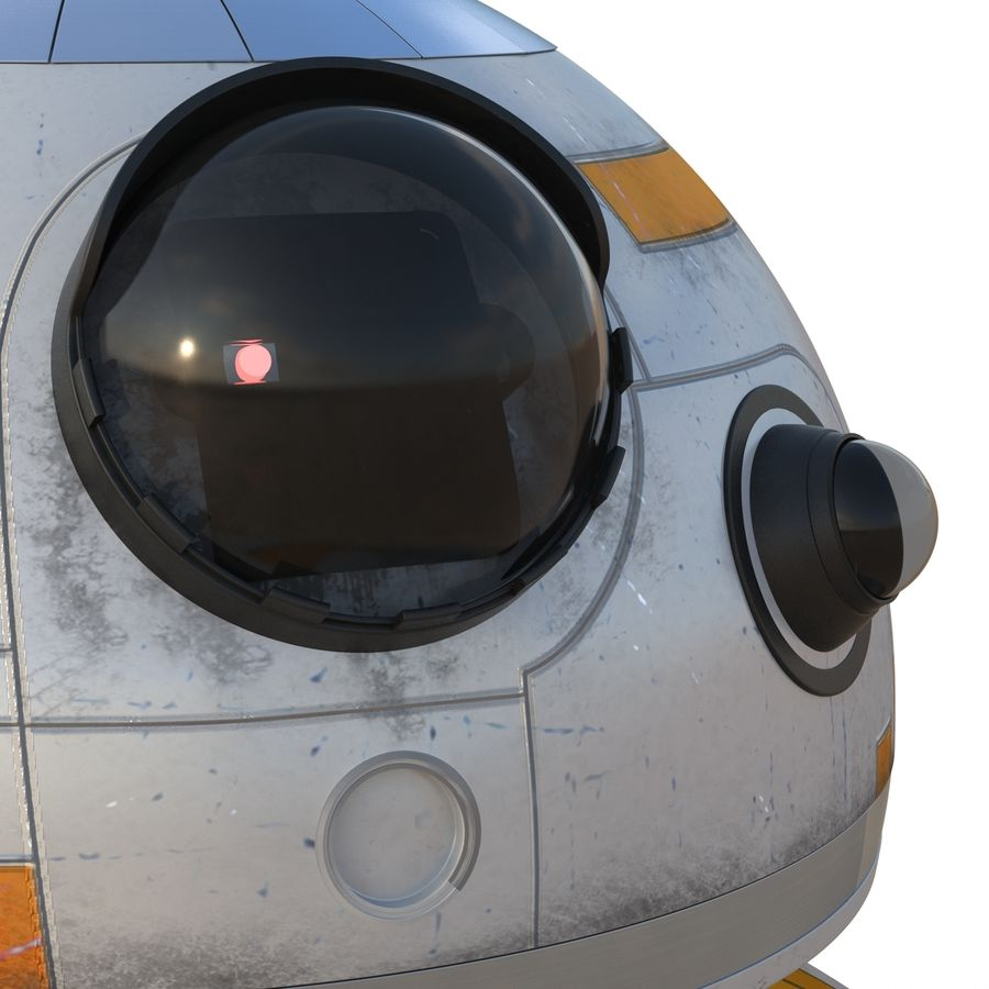 Star Wars BB 8 royalty-free 3d model - Preview no. 17
