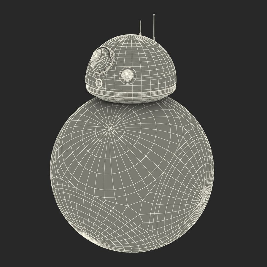 Star Wars BB 8 royalty-free 3d model - Preview no. 28