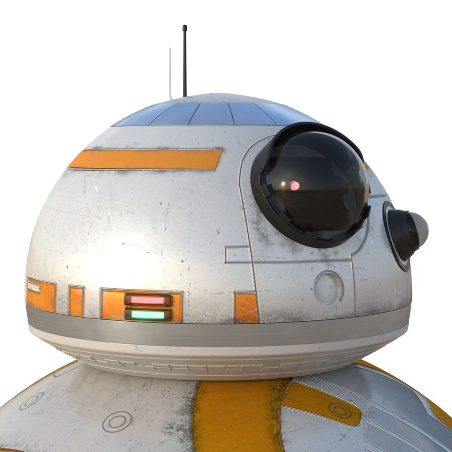 Star Wars BB 8 royalty-free 3d model - Preview no. 15