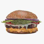 Hamburguesa con queso modelo 3d