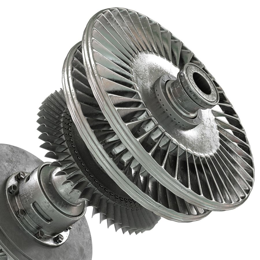 Turbine 3 royalty-free 3d model - Preview no. 17