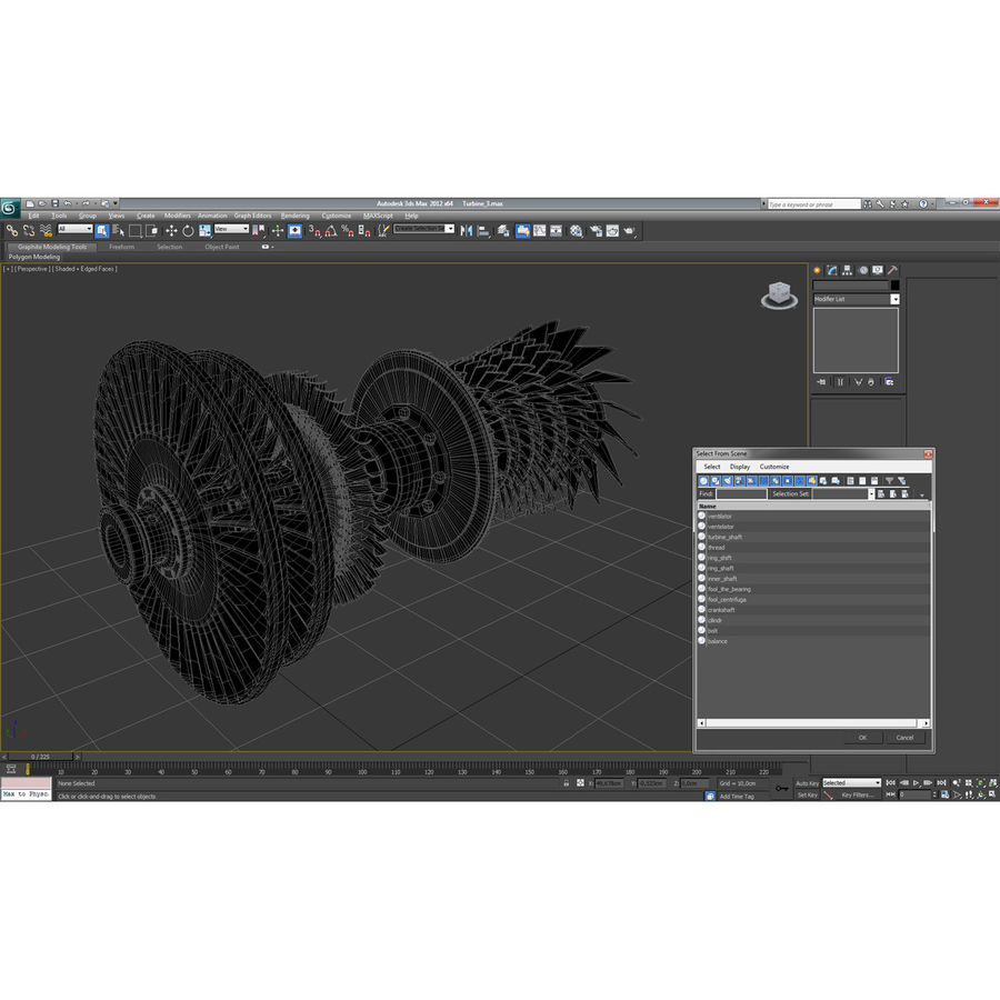 Turbine 3 royalty-free 3d model - Preview no. 26