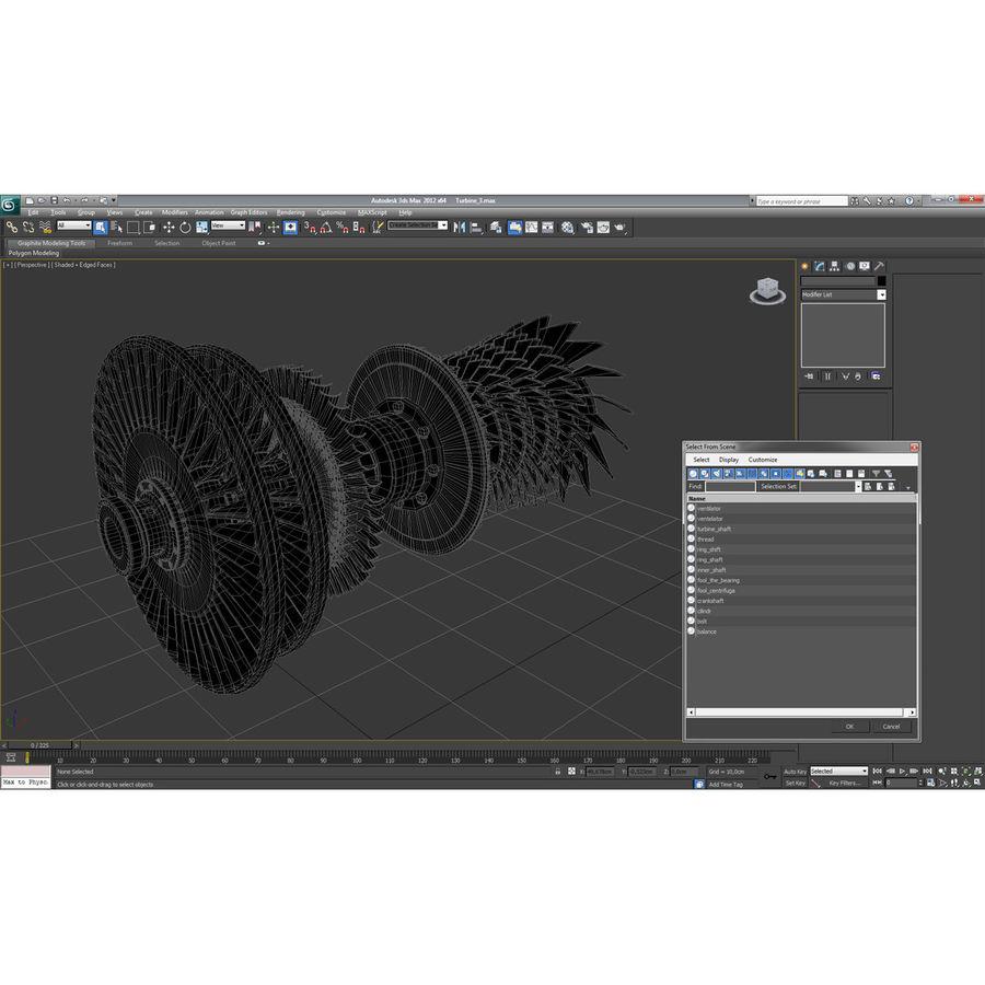 Turbina 3 royalty-free 3d model - Preview no. 26