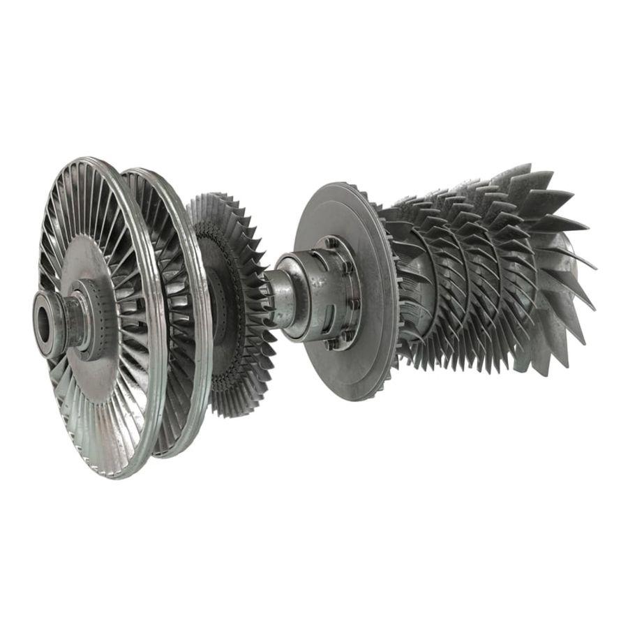 Turbina 3 royalty-free 3d model - Preview no. 2