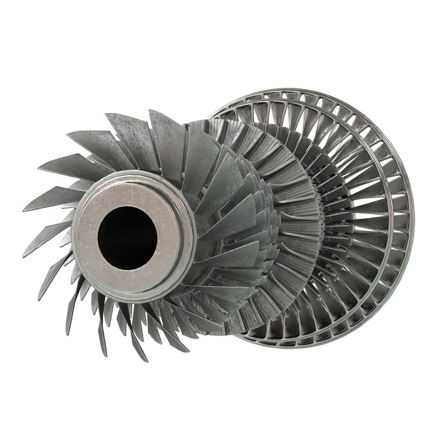 Turbine 3 royalty-free 3d model - Preview no. 12