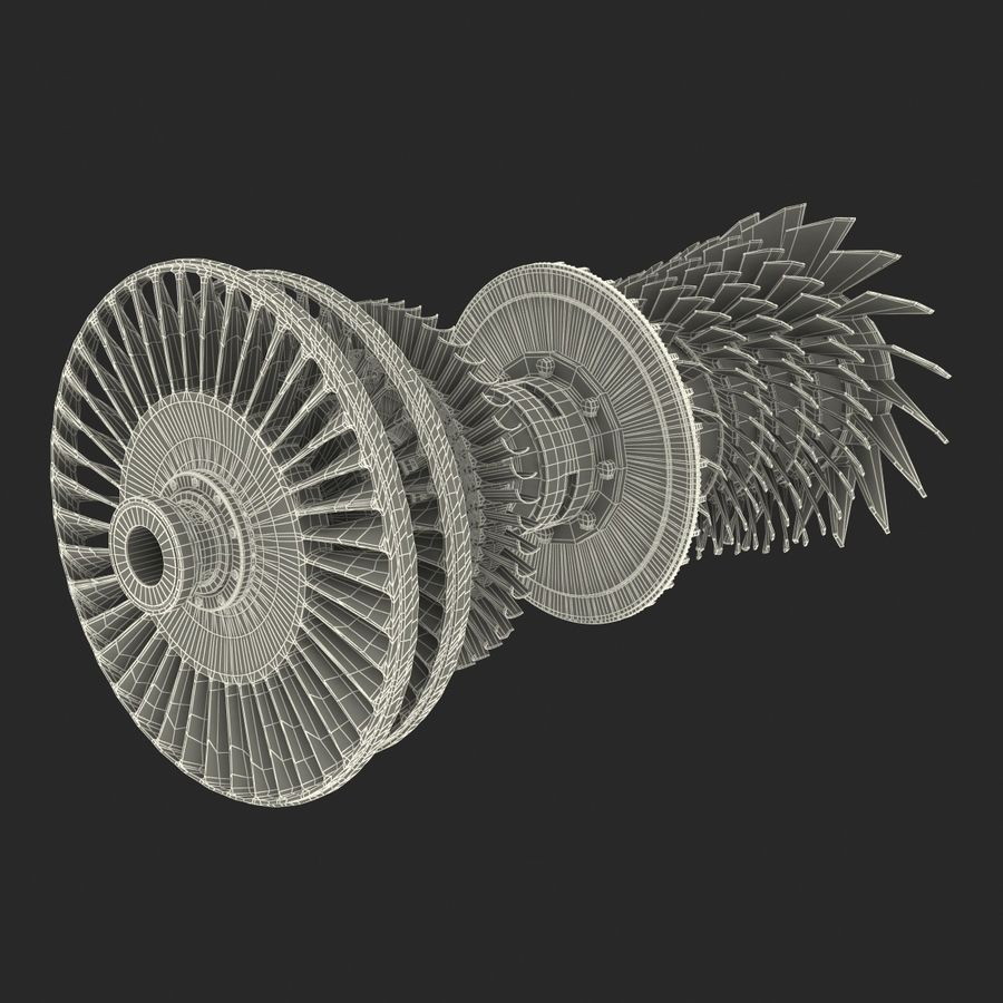 Turbine 3 royalty-free 3d model - Preview no. 27
