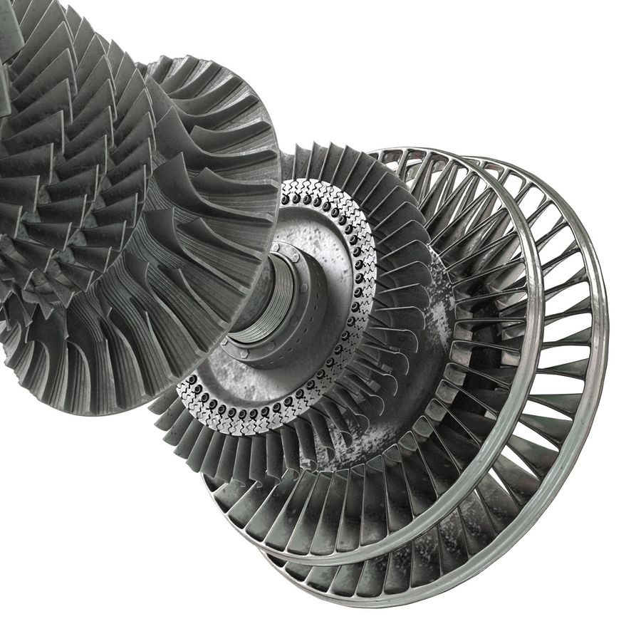 Turbine 3 royalty-free 3d model - Preview no. 18