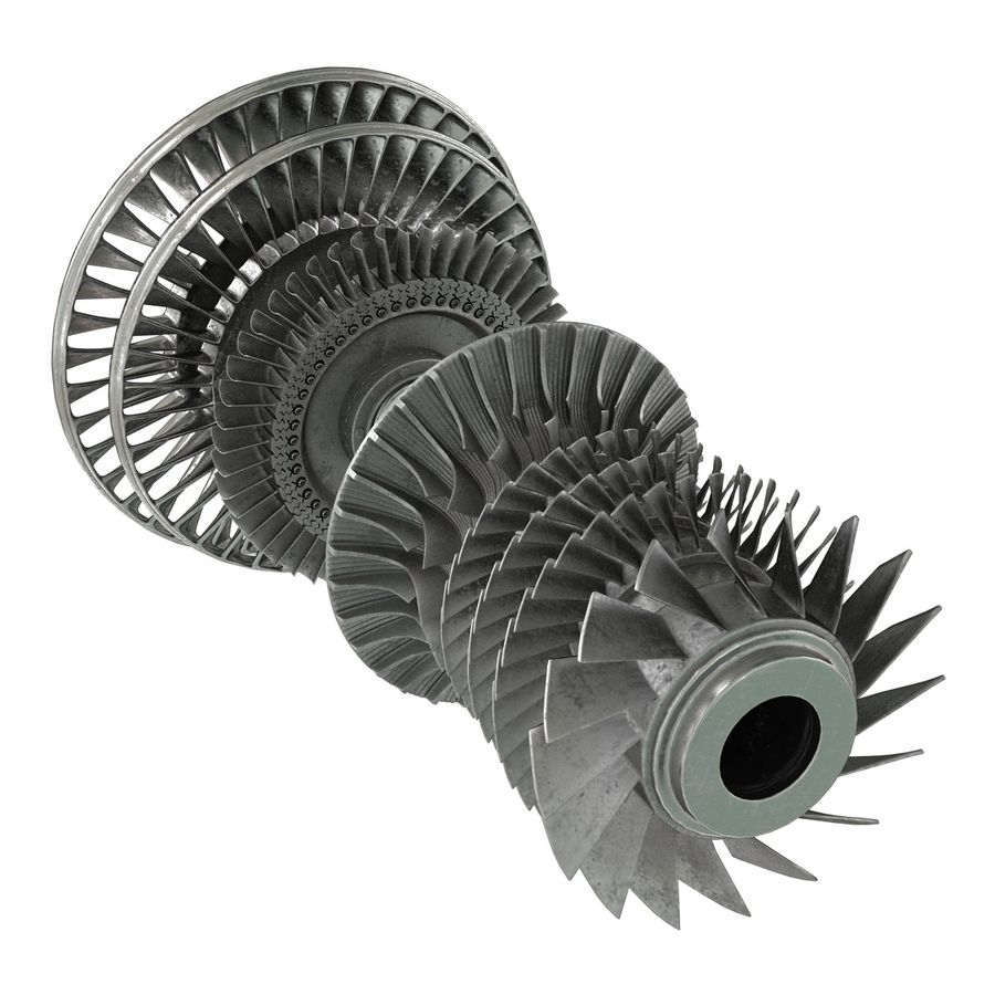 Turbina 3 royalty-free 3d model - Preview no. 9