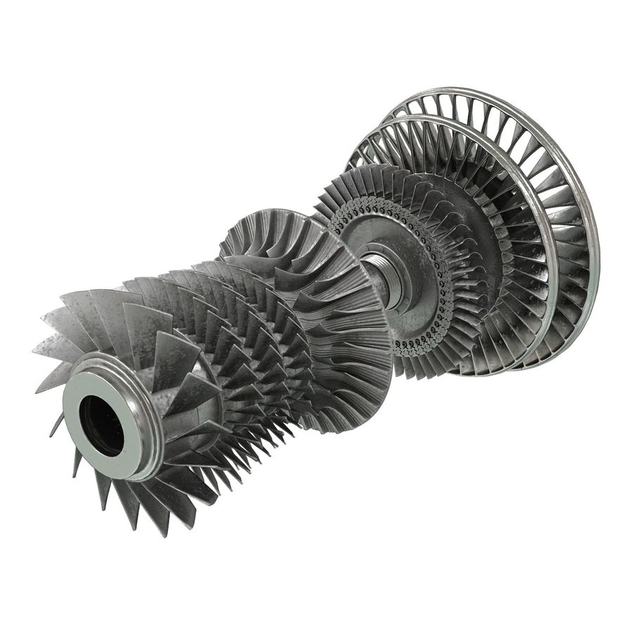 Turbine 3 royalty-free 3d model - Preview no. 5
