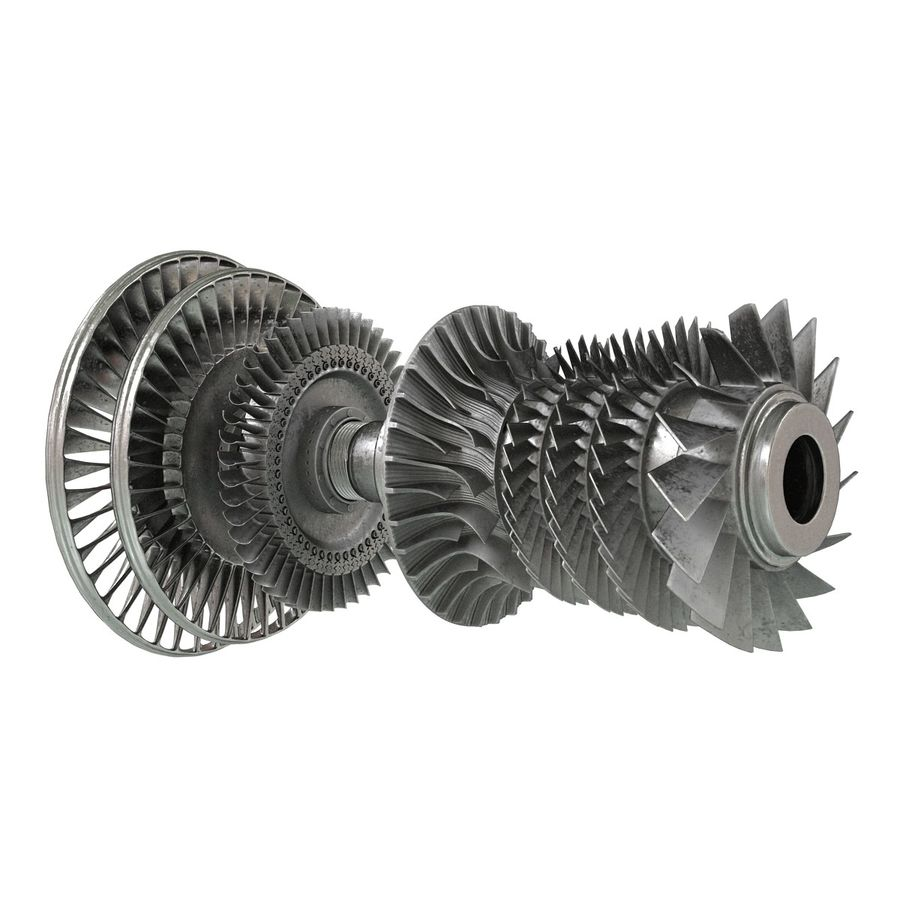 Turbine 3 royalty-free 3d model - Preview no. 6