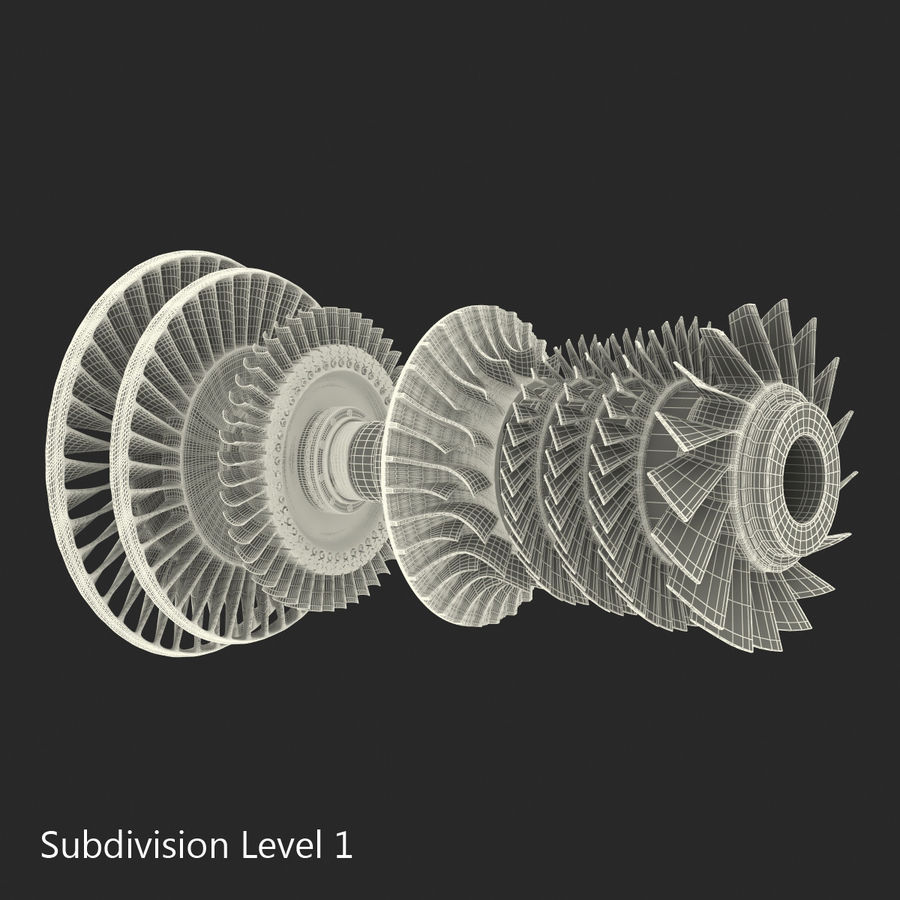 Turbine 3 royalty-free 3d model - Preview no. 20