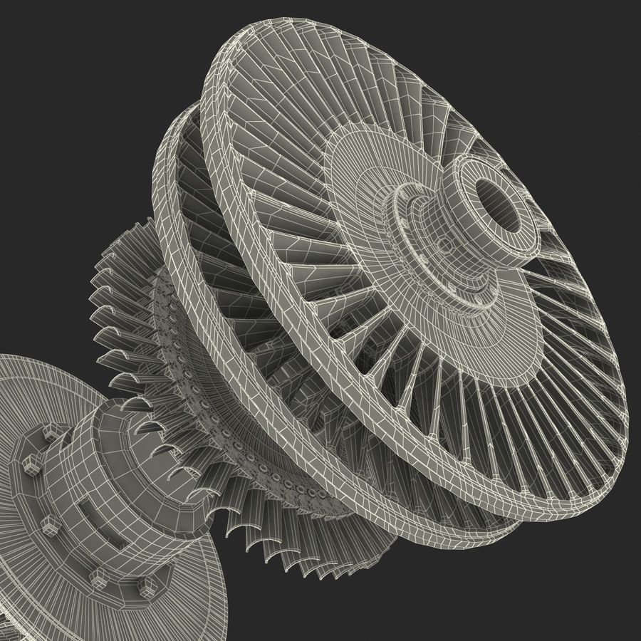 Turbine 3 royalty-free 3d model - Preview no. 33
