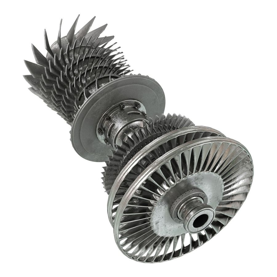 Turbine 3 royalty-free 3d model - Preview no. 7
