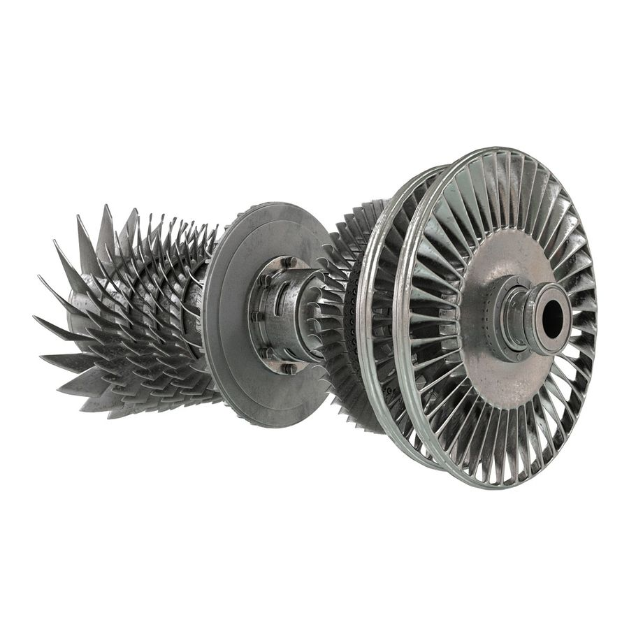 Turbine 3 royalty-free 3d model - Preview no. 4