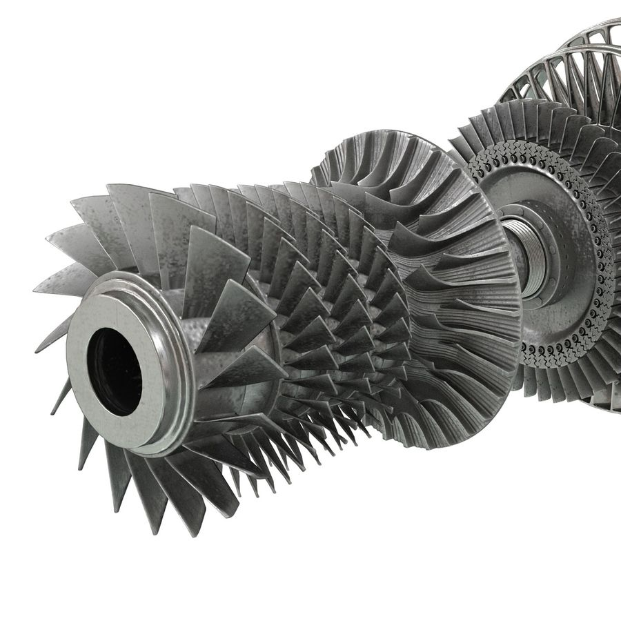Turbine 3 royalty-free 3d model - Preview no. 15