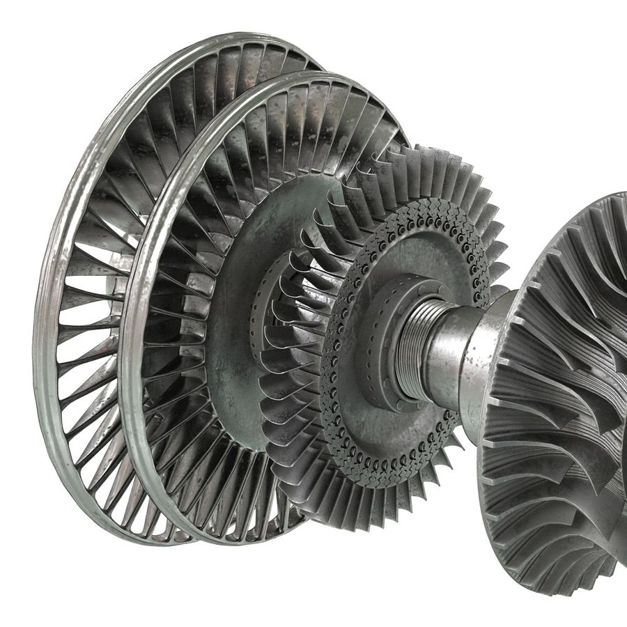 Turbine 3 royalty-free 3d model - Preview no. 14