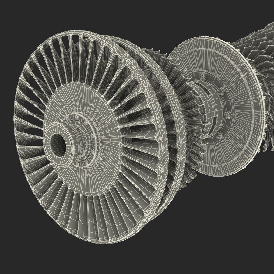 Turbine 3 royalty-free 3d model - Preview no. 29